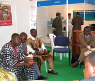 A side-meeting with Ghana delegation at Cities Alliance booth.