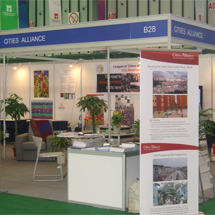 The Cities Alliance booth at WUF4 in Nanjing, China