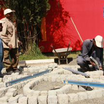 A cobblestone promotion held in Addis Ababa to mark Ethiopian Cities Day.