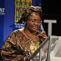 Mrs Gakou Salamatu Fofana, Minister for Housing and Urban Development, Mali at the WUC launch.