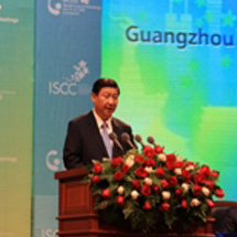 Chinese Vice President Xi Jinping addressing the opening ceremony of the 2009 UCLG World Council