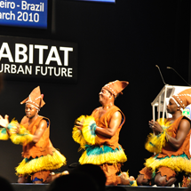 Dancers at the WUC launch in Rio.