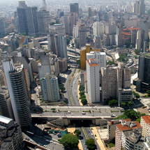 Brazil, the largest country in Latin America, is over 81 percent urbanised. Pictured: Sao Paulo