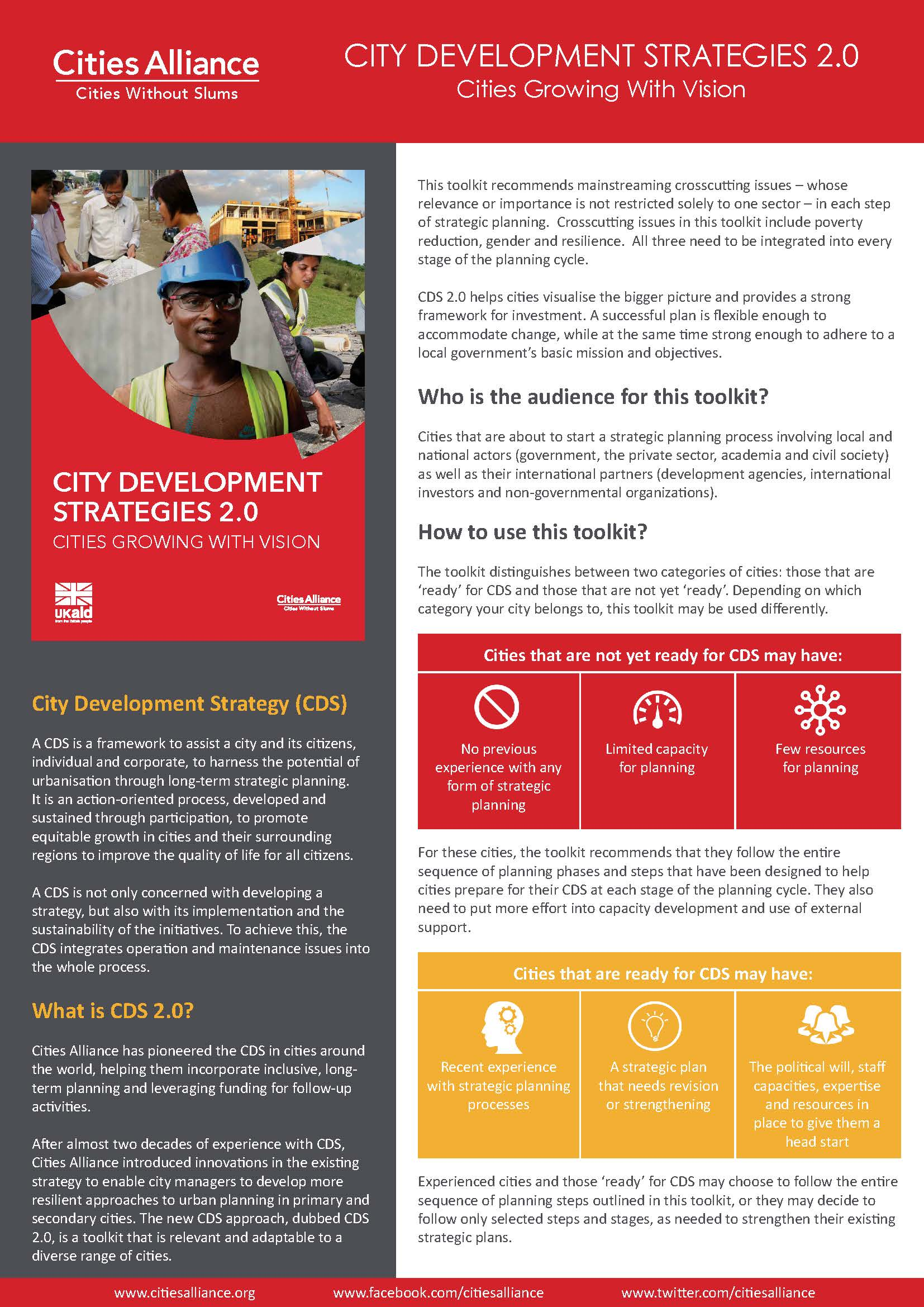 City Development Strategies 2.0 - Cities Growing With Vision