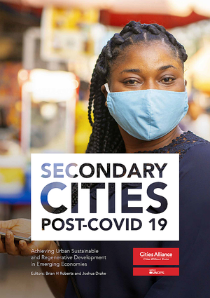 Women wearing a mask. Secondary Cities Post Covid-19 book cover